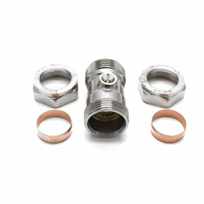 1 X Isolating Valve Chrome Plated 22Mm X 22Mm
