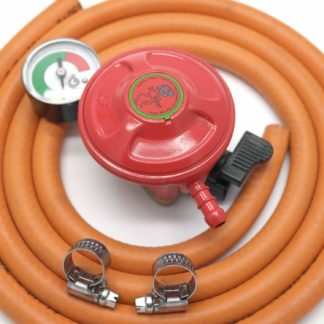 Igt Patio Gas 27Mm Regulator With Pressure Gauge & 2 M Hose +2 Clips 5 Y Warrant