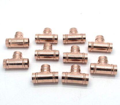 15Mm Solder Ring Copper 3 Way Equal T 10 pack (95)