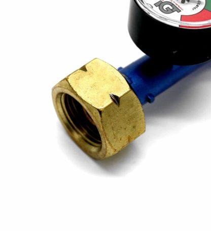 Igt Butane Gas Regulator With Pressure Gauge Fits Calor 4.5Kg Dumpy 5Y Warranty