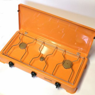 3 Burner Gas Camping Cooker 4.25Kw Made In Italy