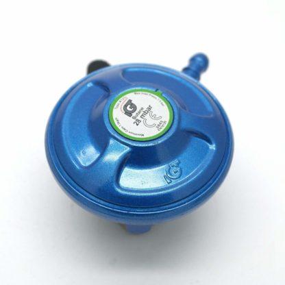 Igt 21Mm 28Mbar  Butane Gas Regulator & 2 Metre Hose Kit With 2 Clips
