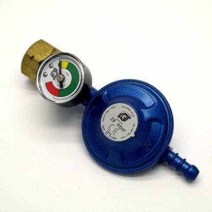 Igt 28Mbar Calor Gas 4.5Kg Gas Regulator With Pressure Gauge & 2 M Hose+Clips