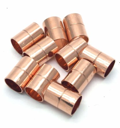 22Mm End Feed Copper Equal Straight Coupling 10 Pack D Box 104