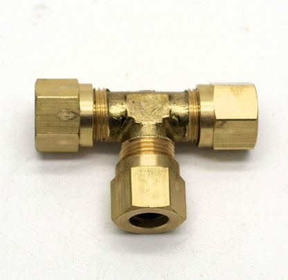 """British Made 5/16"""" Equal T Brass Compression Fitting  (29)"""