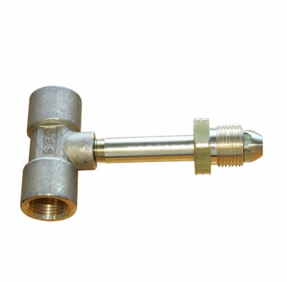 Pol Male To 2 X Pol Female Extended Brass Pigtail T Adaptor (85)