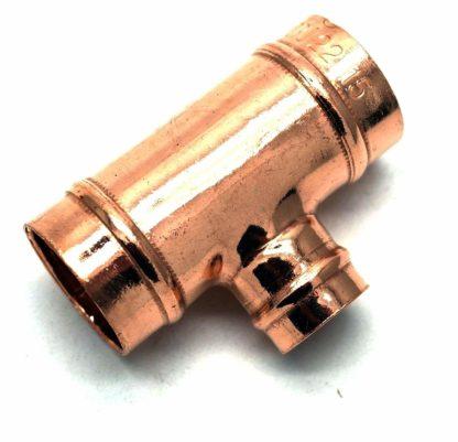 22 X 15 X 22Mm Solder Ring Copper 3 Way Unequal T 5 Pack D Box 97