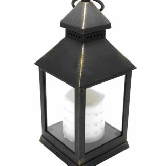 24Cm Antique Bronze Led Traditional Hanging Outdoor/Indoor Lantern