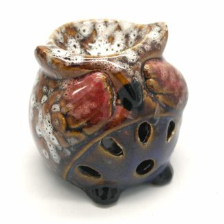 See No Evil Owl Ceramic Oil Burner (Owlobx-01A)