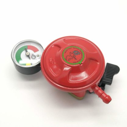 Igt Patio Gas Regulator With Pressure Gauge 27Mm Clip On 5 Year Warranty