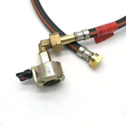 """27Mm Cylinder Adaptor & .75M (30"""") Caravan Pigtail Hose Kit Fits Calor Flogas"""