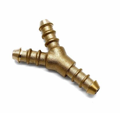 3 Way Brass Y 10Mm Fulham Nozzle To Fit 8Mm I/D Hose (127)