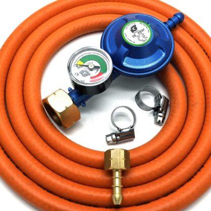 Igt 4.5Kg Butane Gas Regulator & Gauge Conversion For Most Weber Q & Lp Models
