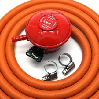 Calor Gas Brand 27Mm Pato Gas Regulator 2Mt Hose/Pipe & 2 Clips 5 Year Warranty