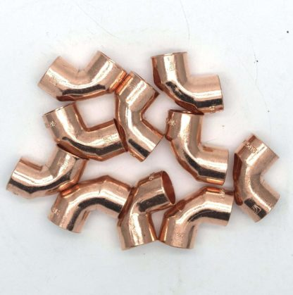 22Mm End Feed Copper 90? Elbow 10 Pack D Box 101