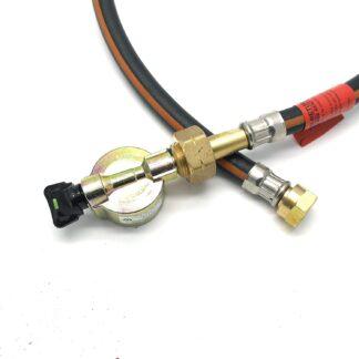 """21Mm Cylinder Adaptor & .75M (30"""") Caravan Pigtail Gas Hose Fits Calor Flogas"""
