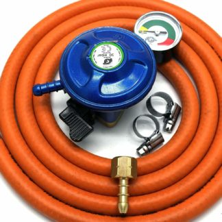 Igt 21Mm Butane Gas Regulator With Gauge Replacement Hose Kit Uk Cadac Lp Models