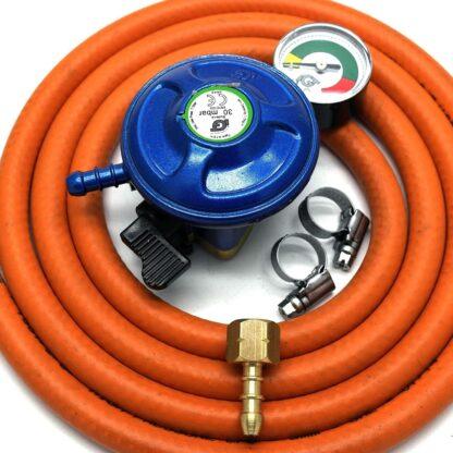 Igt 21Mm Butane Gas Regulator With Gauge Replacement Hose Kit Uk Cadac Lp Models