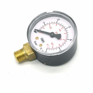 "0-6 Bar Pressure Gauge 1/4"" Bspm Inlet 50Mm Dial"