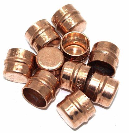 15Mm Solder Ring Copper Stop End 10 Pack  (78)