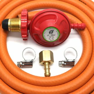 Igt 37Mbar Hand Wheel Propane Gas Regulator Hose Kit For Uk Outback Models
