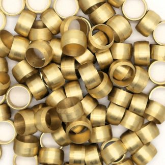 British Made 10 X 8Mm Brass Olives (4)