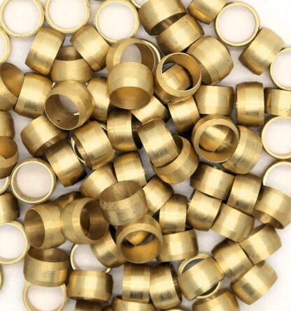 British Made 10 X 10Mm Brass Olives (3)