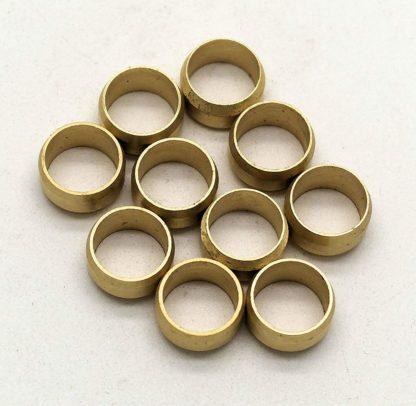 British Made 10 X 8Mm Brass Olives (4)