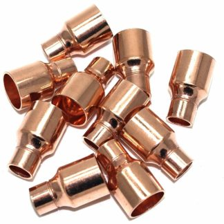 15Mm To 8Mm End Feed Copper Straight Fitting Reducing Coupling 10 Pack (46)