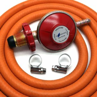 Hand-Tight Propane Gas Regulator With 2M Hose + 2 Clips Fits Calor Gas / Flogas