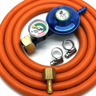Igt 4.5Kg Butane Gas Regulator & Pressure Gauge Hose Kit For Uk Outback Models