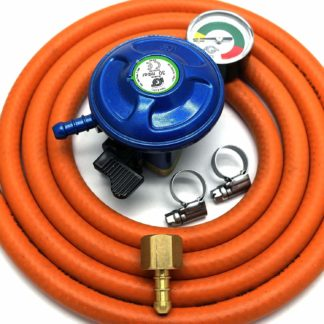 Igt 21Mm Butane Gas Regulator With Gauge Replacement Hose Kit Uk Outback Models