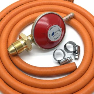 Propane Gas Regulator 37Mbar With 2M Hose & 2 Clips Fits Calor Gas / Flogas