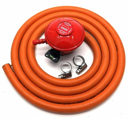Calor Gas Brand 27Mm Pato Gas Regulator 2Mt Hose/Pipe & 2 Clips 5 Year Warranty