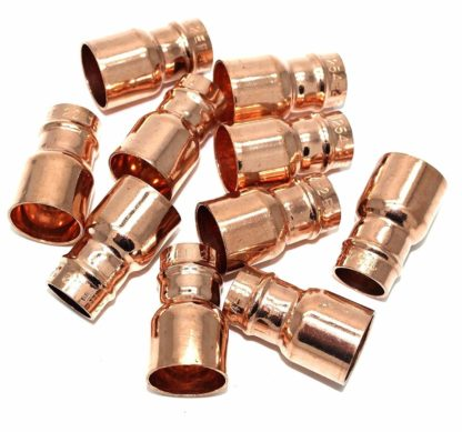 22Mm To 15Mm Solder Ring Copper Straight Fitting Reducing Coupling 10 Pack (98)