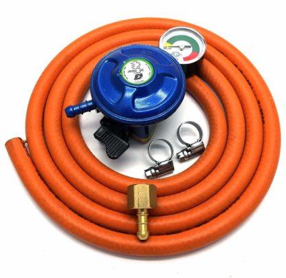 Igt 21Mm Butane Gas Regulator With Gauge Replacement Hose Kit Uk Outback Models