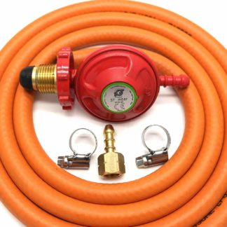 Igt 37Mbar Propane Hand Wheel Gas Regulator  Hose Kit For Uk Cadac Lp Models