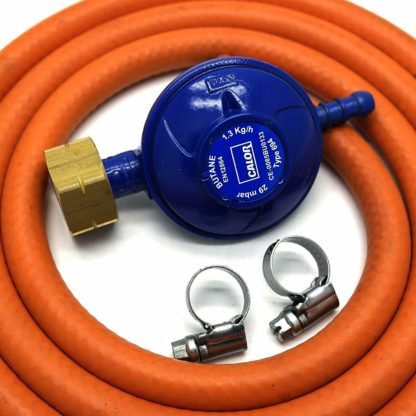 Calor Gas Brand Butane 4.5Kg Gas Regulator 1Mt Hose & 2 Clips 5 Year Warranty