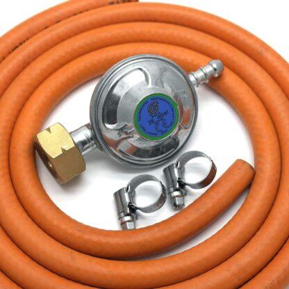 Igt 4.5 Butane Regulator & 2 Mt Hose + 2 Clips For Calor 4.5Kg Cylinder