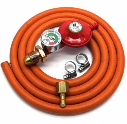 Igt Propane Gas Regulator With Gauge Replacement Hose Kit For Uk Outback Models