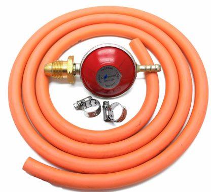 Hg Propane Regulator 2M Hose Kit Fits Calor Gas & Flogas Screw In Cylinders