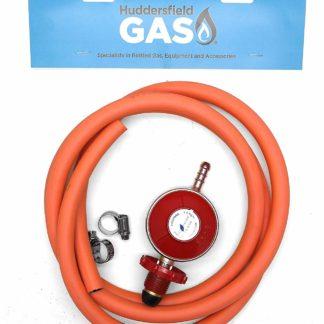 Hg Hand Wheel Propane Regulator 2M Hose Kit Fits Red Calor Gas & Flogas Cylinder