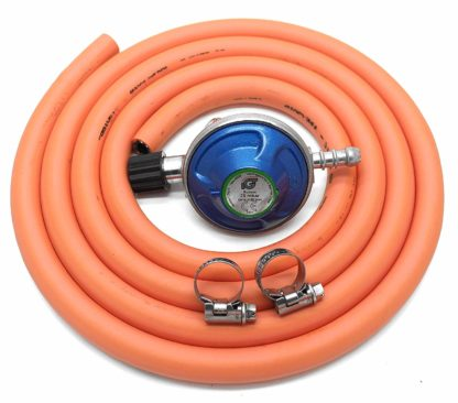 Igt Campingaz Gas Regulator 2M Hose & Clips Fits 907,904.901 & 5 Year Warranty