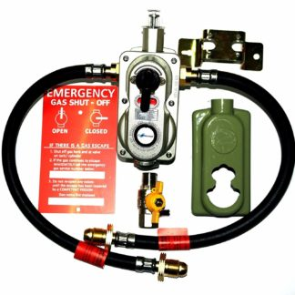 2 Cylinder Auto Chang-Over Propane Gas Regulator With Safety Opso System Fitted