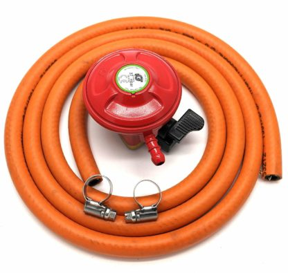 Igt Bbq / Patio Gas 27Mm Gas Regulator & 1 Metre Hose Kit 5 Year Warranty