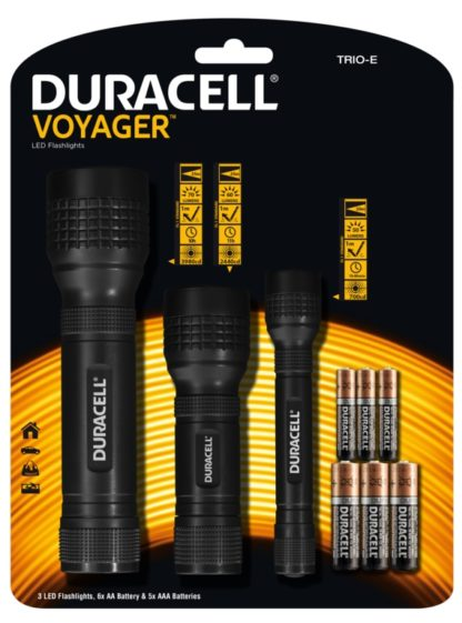 Duracell Promo Led 3 Torch Pack Including Battery'S