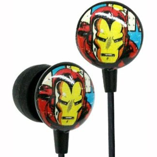 Marvel Iron Man Headphones Fits Ipad, Iphone.Ipod & All Units With A 3.5Mm Jack